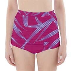 Background Vector Texture Pattern High Waisted Bikini Bottoms