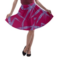 Background Vector Texture Pattern A Line Skater Skirt