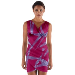 Background Vector Texture Pattern Wrap Front Bodycon Dress