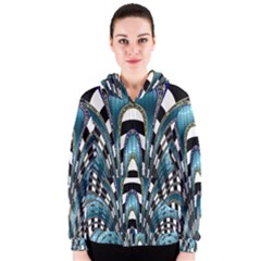 Abstract Art Design Texture Women s Zipper Hoodie