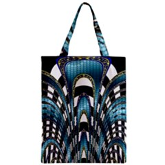 Abstract Art Design Texture Zipper Classic Tote Bag