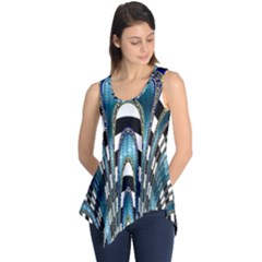 Abstract Art Design Texture Sleeveless Tunic