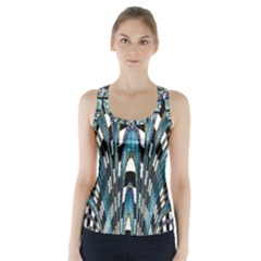 Abstract Art Design Texture Racer Back Sports Top