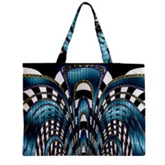 Abstract Art Design Texture Medium Zipper Tote Bag