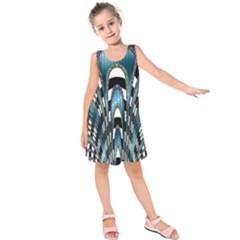 Abstract Art Design Texture Kids  Sleeveless Dress