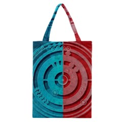 Vector Watch Texture Red Blue Classic Tote Bag