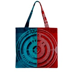 Vector Watch Texture Red Blue Zipper Grocery Tote Bag by Nexatart
