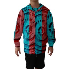 Vector Watch Texture Red Blue Hooded Wind Breaker (kids)