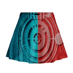 Vector Watch Texture Red Blue Mini Flare Skirt