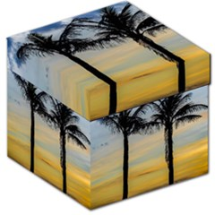 Palm Trees Against Sunset Sky Storage Stool 12   by dflcprints