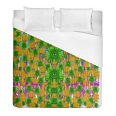Jungle Love In Fantasy Landscape Of Freedom Peace Duvet Cover (full/ Double Size) by pepitasart