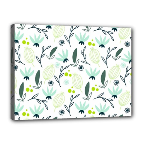 Hand Drawm Seamless Floral Pattern Canvas 16  X 12  by TastefulDesigns