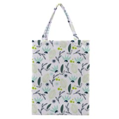 Hand Drawm Seamless Floral Pattern Classic Tote Bag by TastefulDesigns