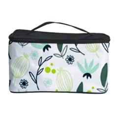 Hand Drawm Seamless Floral Pattern Cosmetic Storage Case by TastefulDesigns
