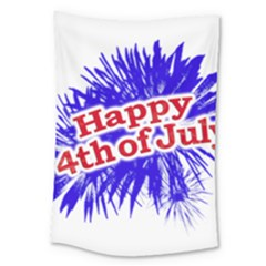 Happy 4th Of July Graphic Logo Large Tapestry by dflcprints