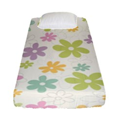 Beautiful Spring Flowers Background Fitted Sheet (single Size) by TastefulDesigns