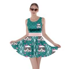 Flower Pattern137 Skater Dress Chick Trooper by galfawkes