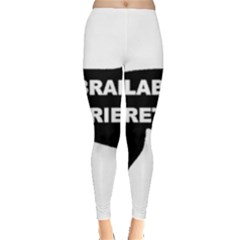 Labrador Retriever Black Name Color Silo Leggings  by TailWags