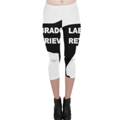 Labrador Retriever Black Name Color Silo Capri Leggings  by TailWags