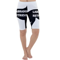 Labrador Retriever Black Name Color Silo Cropped Leggings  by TailWags