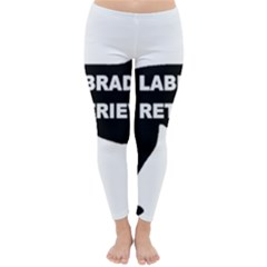 Labrador Retriever Black Name Color Silo Classic Winter Leggings by TailWags