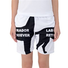 Labrador Retriever Black Name Color Silo Women s Basketball Shorts by TailWags