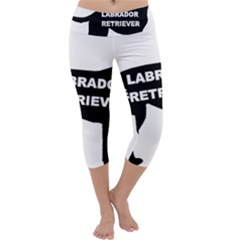 Labrador Retriever Black Name Color Silo Capri Yoga Leggings by TailWags