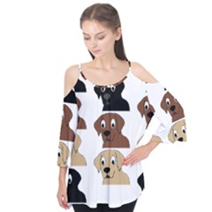 Labs 3 Colors Cartoon Head Flutter Tees by TailWags