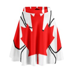 Mega Paw Canadian Flag High Waist Skirt by TailWags