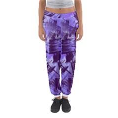 Purple Paint Strokes Women s Jogger Sweatpants by KirstenStar
