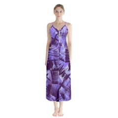 Purple Paint Strokes Chiffon Maxi Dress by KirstenStar