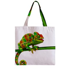 Chameleons Zipper Grocery Tote Bag by Valentinaart