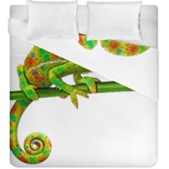 Chameleons Duvet Cover Double Side (king Size) by Valentinaart