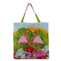 Flamingo Grocery Tote Bag by Valentinaart