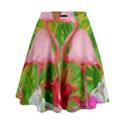 Flamingo High Waist Skirt by Valentinaart