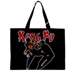 Kung Fu  Medium Tote Bag by Valentinaart
