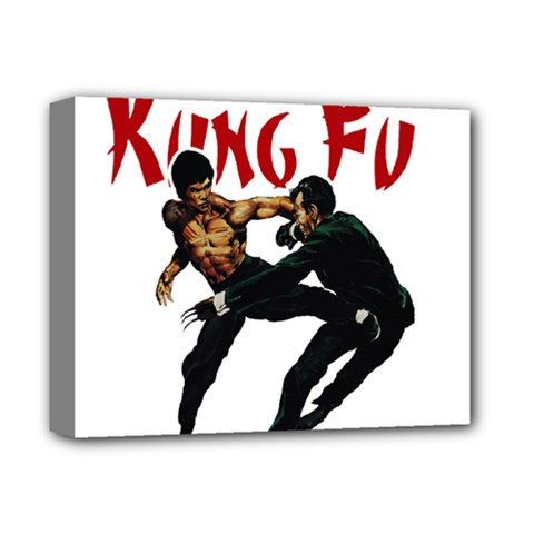 Kung Fu  Deluxe Canvas 14  X 11  by Valentinaart