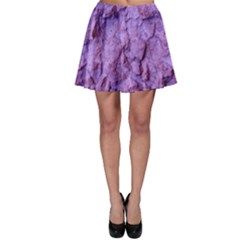 Purple Wall Background Skater Skirt