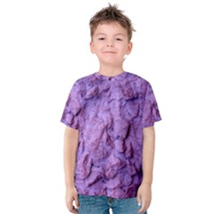 Purple Wall Background Kids  Cotton Tee by Costasonlineshop