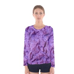 Purple Wall Background Women s Long Sleeve Tee