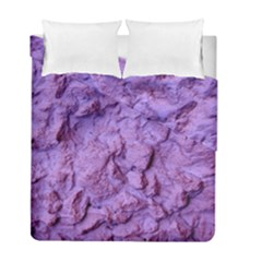 Purple Wall Background Duvet Cover Double Side (full/ Double Size)