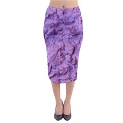 Purple Wall Background Midi Pencil Skirt by Costasonlineshop
