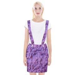 Purple Wall Background Braces Suspender Skirt by Costasonlineshop