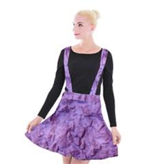 Purple Wall Background Suspender Skater Skirt