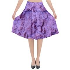 Purple Wall Background Flared Midi Skirt by Costasonlineshop