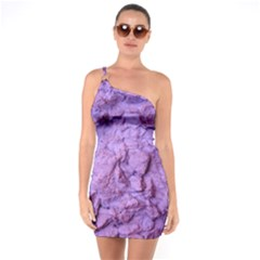Purple Wall Background One Soulder Bodycon Dress