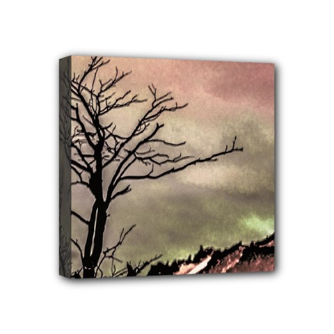 Fantasy Landscape Illustration Mini Canvas 4  X 4  by dflcprints
