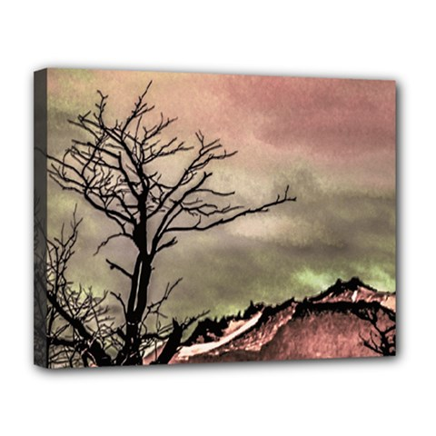 Fantasy Landscape Illustration Canvas 14  X 11  by dflcprints