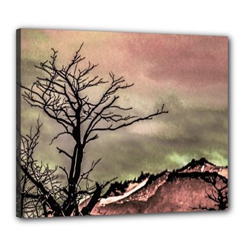 Fantasy Landscape Illustration Canvas 24  X 20  by dflcprints