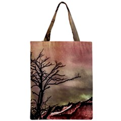 Fantasy Landscape Illustration Zipper Classic Tote Bag by dflcprints